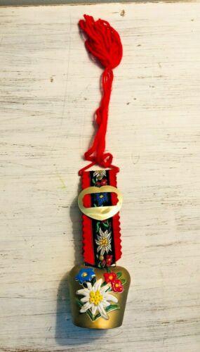 Vintage Swiss Switzerland Souvenir Goat Cow Sheep Bell Handpainted Decorative