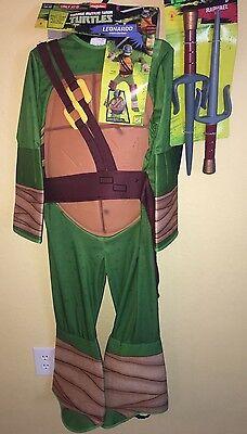 BOYS NEW NWT NINJA TURTLE LEONARDO HALLOWEEN COSTUME RAFAEL SAI WEAPONS SHELL @@ - Halloween Costume Ninja Turtle Shell