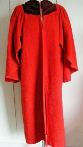 Vintage red Judge graduation Doctor PHD robe red brushed cotton Ede Ravenscroft