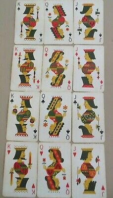 Swap Playing Cards 12 Face Cards All Different