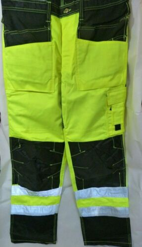 NEW MENS OFFSHORE QUALITY NWC WORK WEAR PROTECTIVE TROUSERS HIGH VIS - NORWEGIAN