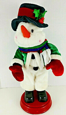 "Animated Frosty the Snowman Plays ""Shake your Groove Thing"" Gemmy ~ SEE VIDEO"