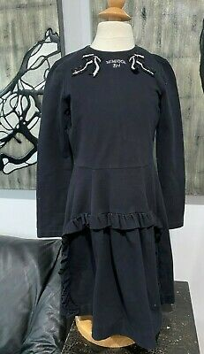 MIMISOL MIMI SOL ITALY BLACK SEQUIN RUFFLE LONG SLEEVE DRESS SZ 140 10