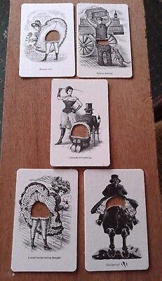 FENTIMANS 5 Victorian-style furtle coasters cheeky saucy furtling fun gift