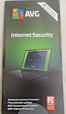 Avg Internet Security 2018   3 Pcs   2 Years   New Sealed Key Card  Free Ship