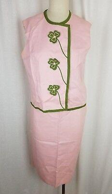 Vintage 50s Jahre Mr. Pudel Phyllis Kleeblatt Mod Kleid Rock Anzug Damen S M