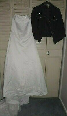 Bride Of Chucky Costume (Womens L Tiffany Bride of Chucky Wedding Gown Costume Good Guys Dress & Jacket)