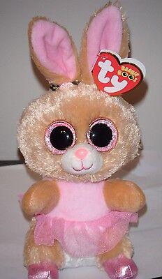 Beanie Boo Rabbit (Ty Beanie Boos - TWINKLE TOES the Ballerina Bunny Rabbit (6 Inch) NEW)