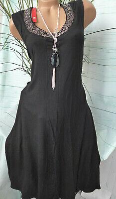 erseykleid mit Pailletten Gr. 42 bis 56 schwarz (019) (Kleid Mit Pailletten)
