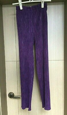 Pleats Please Issey Miyake Purple Slim Trousers Size 3