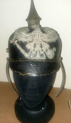 WWI German Model 1916 Pickelhaube Helmet All Original Dated 1916