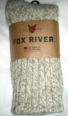 Fox River Heritage Wool Blend Socks 1 Pair XL or Large Oatmeal Made in The USA