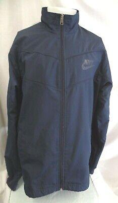 VINTAGE NIKE Sportswear Windbreaker Jacket Navy Blue Men's Large L Nike Navy Blue Jacket
