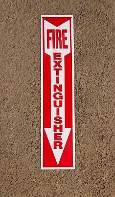 New 4 X 18 Rigid Plastic Arrow Fire Extinguisher Arrow Sign