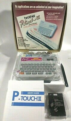 Brother P-touch Iii Pt-10 Thermal Label Maker- Electronic Labeling System- Japan