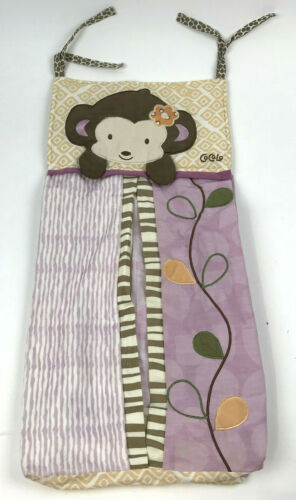CoCaLo JACANA Baby DIAPER Stacker POUCH Bag MONKEY 36 Diapers PURPLE Flower