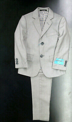 Boys T.O. Light Grey 2PC. Suit Sizes 4 Slim - 10 Slim