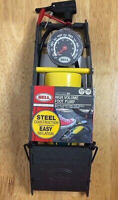 Foot Air Pump Pedal Portable Tire Bomba de pie Gris Manómetro integrado