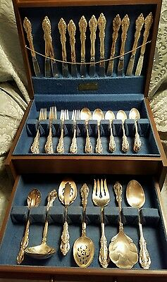 ONEIDA COMMUNITY SILVER ARTISTRY SILVERPLATE FLATWARE 80 PIECE SET W BOX