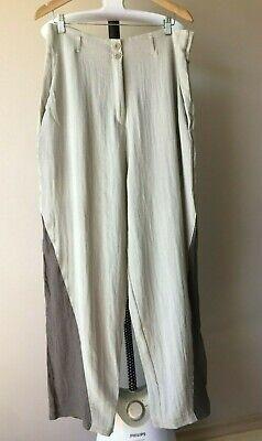 Ivan Grundahl Womens Lagenlook Trousers Size 44 100 % Soft Linen