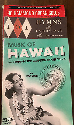 Hammond Organ Music - Hammond Organ Variety Pack  - Music of Hawaii, 101 Hymns, 90 Organ Solos