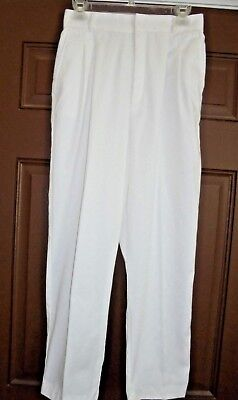 VTG. CABIN CREEK White Pleat Front High Waist Front Pockets Chino Pants Sz 12 for sale  Syracuse
