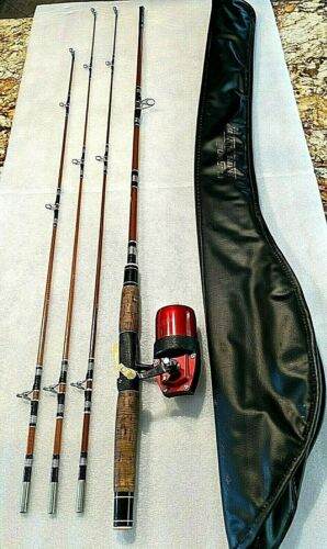 Vintage True-Temper UNI-SPIN 63R Spin Cast Reel with Multi-tip Fishing Rod  6.6