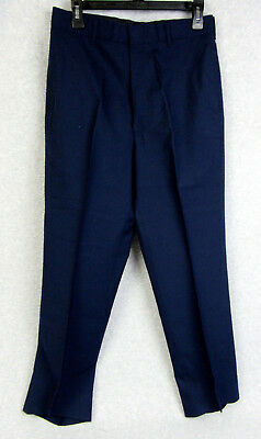 DSCP USAF Air Force Men's Blue Serge Enlisted Service Dress Trousers 35L 1620
