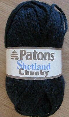 Patons Shetland Chunky, Black, 3.5 oz