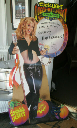 Rare 1997 COORS LIGHT BEER Queen of Halloween JENNY McCARTHY Standee Display