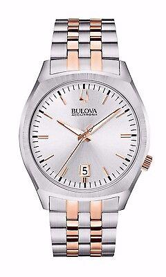 Bulova Men's 98B220 Accutron II Quartz Rose and Silver Tone Dress Watch