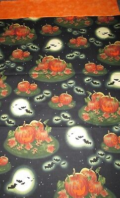 Halloween Handcrafted Pillow Cases 2 Pack Standard Size! Vintage Pumpkin Design. (Halloween Handcrafts)
