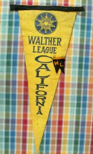 California Walther League Lutheran Church Youth Club Felt Pennant