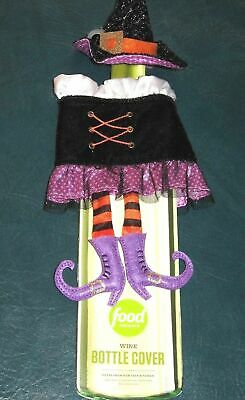Halloween Painted Wine Bottles (Halloween Party Witch - Food Network Wine Bottle Cover - New w/ Tags)