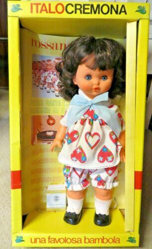 Vintage ItaloCremona Rosanna Doll from 1971  walking talking mini-records
