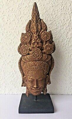 Rare Figure Apsara Angkor Vat Khmer in Paper Mache Recycled Original Cambodia
