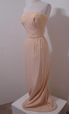GALANOS Amelia Gray Vintage 1960's Cream Silk Strapless Gown XS for sale  Rosamond