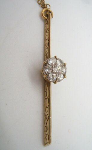 ANTIQUE 14K GOLD & DIAMOND PENDANT 1 1/2 CARATS TOTAL
