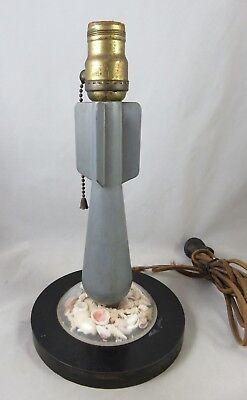 Vtg Military Practice Bomb Shell - Table / Desk Lamp - Trench Art - Seashells