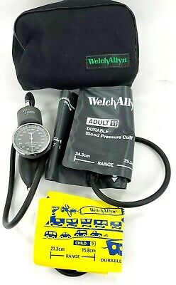 Welch Allyn Tycos Blood Pressure Sphygmomanometer W Large Adult Kids Cuff