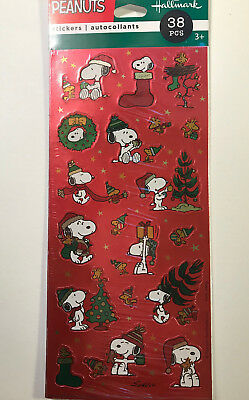 Peanuts Snoopy Woodstock Christmas Stickers Red Foil Hallmark Many Available](Peanuts Woodstock)