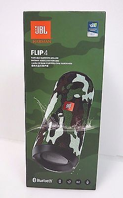 JBL Flip 4 JBLFLIP4SQUADAM Camo Portable Bluetooth Speaker Waterproof BRAND NEW
