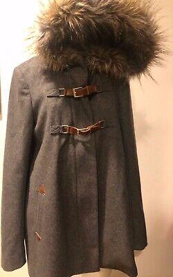 Anthropologie Adare Anorak Coat Jacket Size 8 by Cartonnier VANIARE