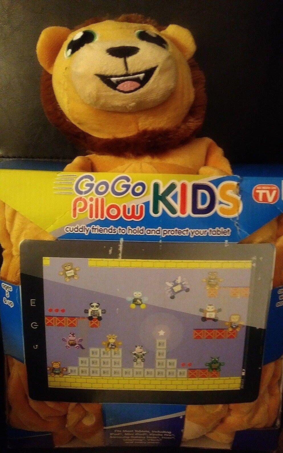 GoGo Kids Pillow Tablet Protector Plush Back Pack Animal Lio