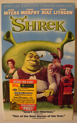 Shrek VHS tape 2001 Special Edition DreamWorks #83670 - Halloween Extended Edition Vhs