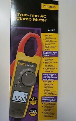 Fluke 373 True Rms 600v Acdc Clamp Meter New