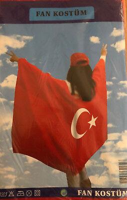 Türkei Türkiye Fan Kostüm Länder Fahne Flagge Flag WM EM Fussball - Fußball Fan Kostüm
