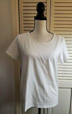 Eileen Fisher 90% organic cotton 10% lycra white tee - Sz L