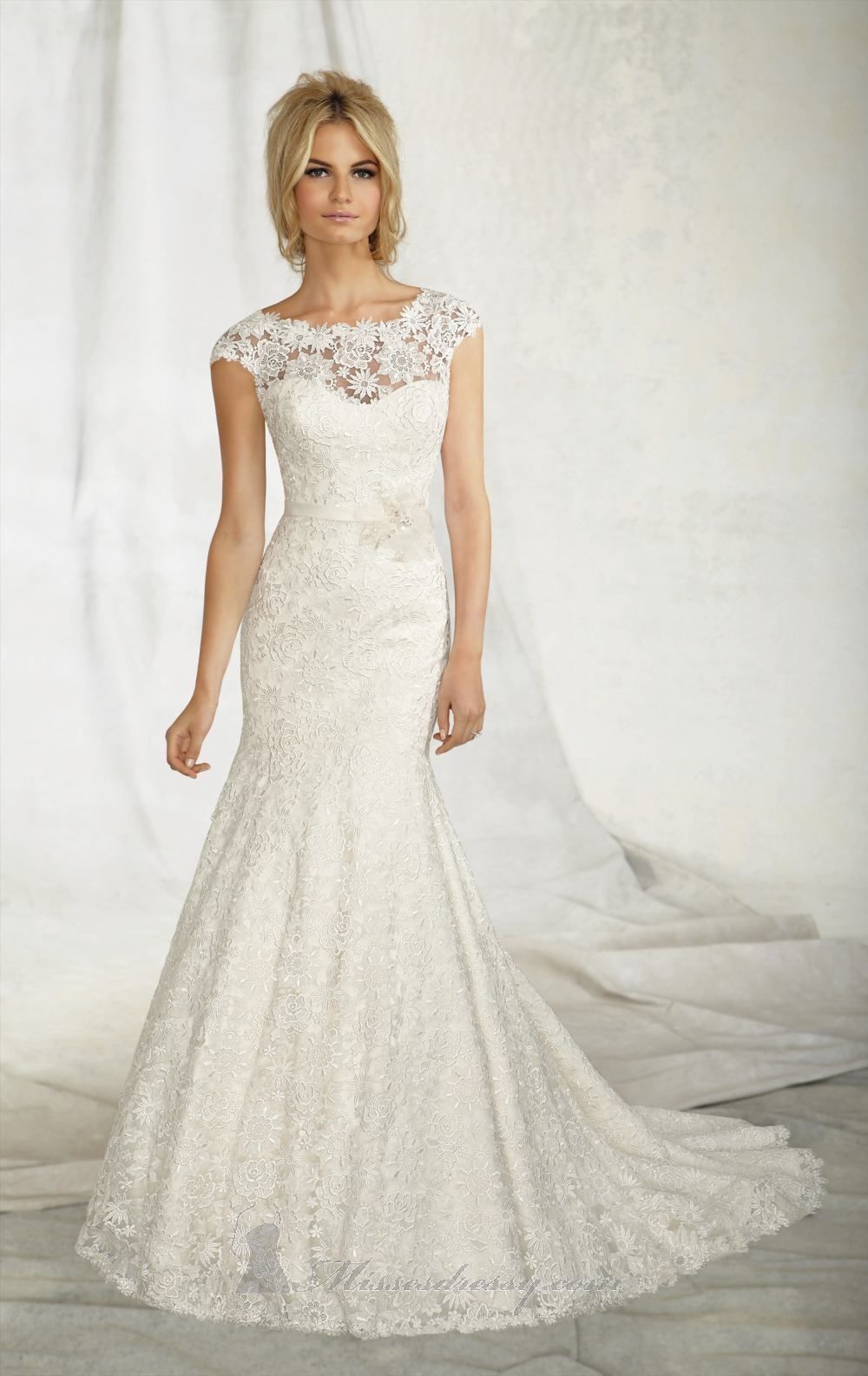 Top 10 lace wedding dresses ebay for Petite dresses for wedding