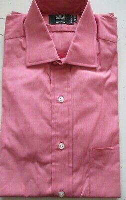 NEW Ike Behar New York Dress Shirt 15 32  Pink Made in USA 100% Cotton